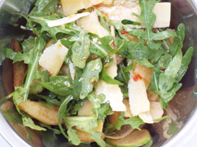 receita004 - Salada de Maçã Verde, Batata, Rúcula Silvestre e Parmesão